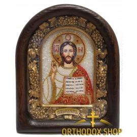 Дивеевская икона из бисера Господь Вседержитель, Освященная